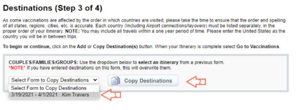 Copy Destinations 3